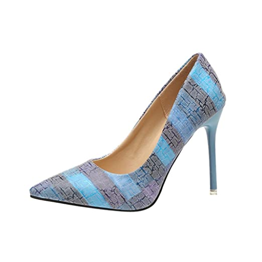 DENER Women Ladies Summer High Heels Sandals, Mixed Colors Pointed Toe Wide  Width Thin Fine Stilettos Pumps Shoes at Amazon Women s Clothing store  06c95062dd