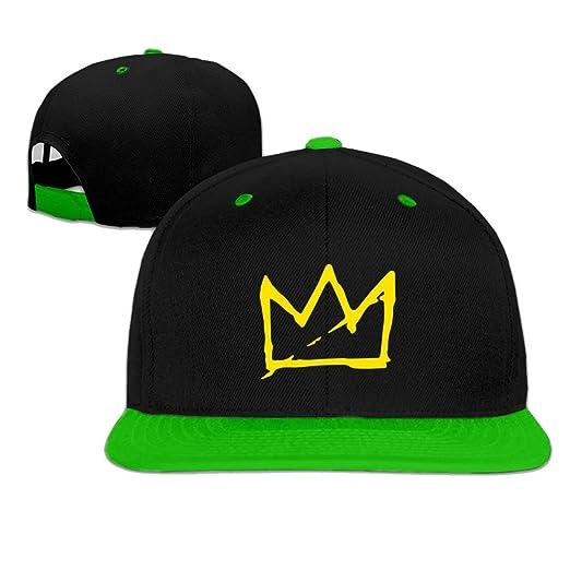 1fd50cfe251 Amazon.com  Basquiat Crown Snapback Baseball cap hip hop cap Green ...