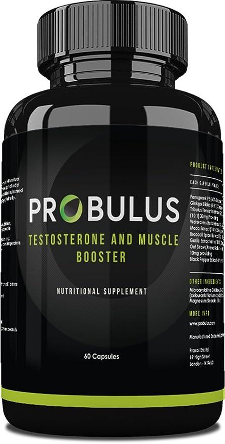 TESTOSTERONE BOOSTER de Probulus: aumento de la masa muscular, definición, aumento de la
