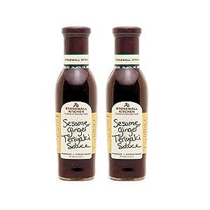 Stonewall Kitchen Sesame Ginger Teriyaki Sauce, 11 Ounces (Pack of 2)