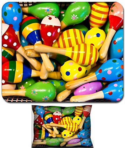 (Liili Mouse Wrist Rest and Small Mousepad Set, 2pc Wrist Support IMAGE ID: 16080362 colorful maracas for)
