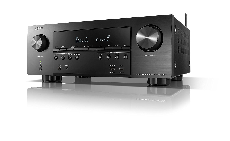 Renewed Denon AVR-S940H 7.2 Channel 90W x 7 ch AV Receiver with HEOS