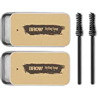 2PCS Eyebrow Soap Kit,Brows Styling Soap,4D Brows Gel Long Lasting Waterproof Smudge Proof Eyebrow Styling Pomade for…
