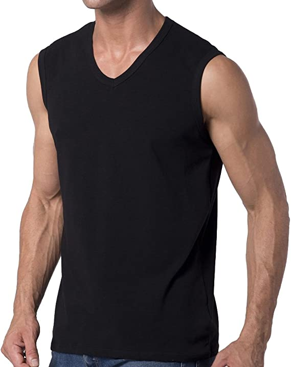 dgyao/® Mens Boys acolchada de compresi/ón camiseta de tirantes sin mangas de color negro pecho pantalla Tank Top para Rugby Baloncesto F/útbol Paintball Ciclismo y otros deportes de contacto