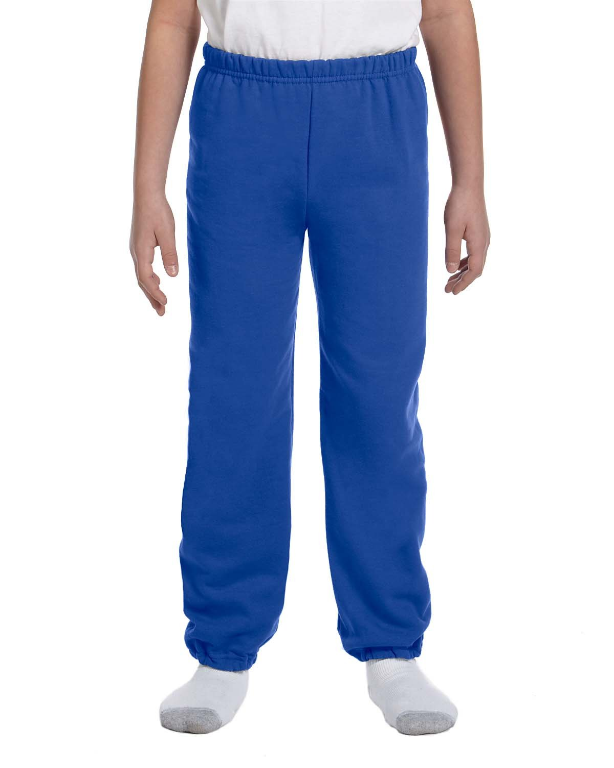 Gildan Boys 7.75 oz. Heavy Blend? 50/50 Sweatpants (G182B) -ROYAL -L-12PK