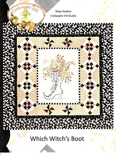 Which Witch's Boot Halloween Embroidery Pattern by Meg Hawkey From Crabapple Hill Studio #320 - 40