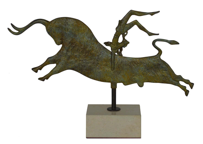 Talos Artifacts Bull-leaping Bronze Sculpture - Palace of Knossos Fresco - Minoan period Crete