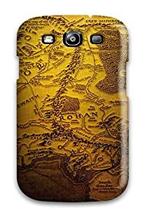 S3 Scratch-proof Protection Case Cover For Galaxy/ Hot Map Of Middle Earth Phone Case