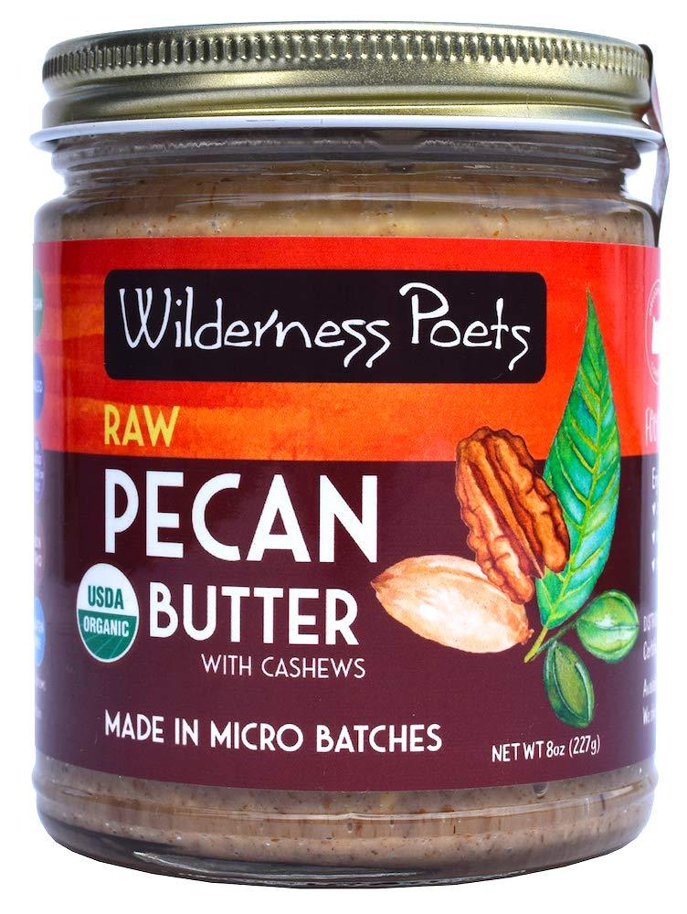 Wilderness Poets Organic Raw Pecan Butter, 8 Ounce (227 Gram)