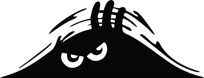 Jackey Awesome1 X Peeking Monster Scary Eyes Car Decal / Sticker ...