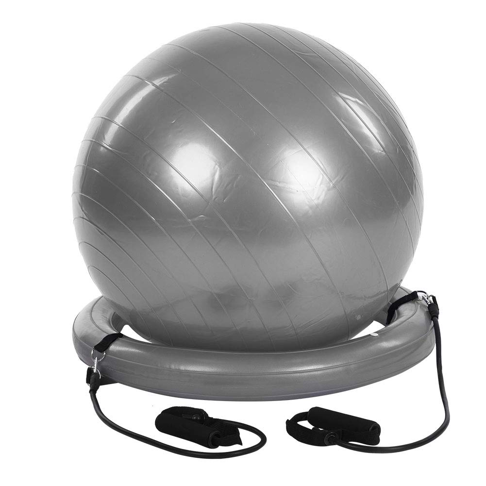 43cm Extra Thick /& Anti-Slip /& Anti-Burst Gym Ball with Quick Pump and Resistance Bands Base Elastic Straps Zerone Exercise Yoga Ball Pregnancy /& Fitness Pilates Swiss Ball for Yoga