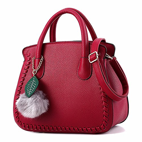 En Grande Bandoulière Top Sacs Femme À Fourre handle White Bmkwsg Rice Cuir Main Sac tout Contemporain Red Oxblood Wq8X05C