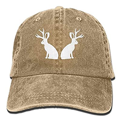 Denim Baseball Cap Rabbit with Antlers Men Women Snapback Casquettes Adjustable Dad Hat