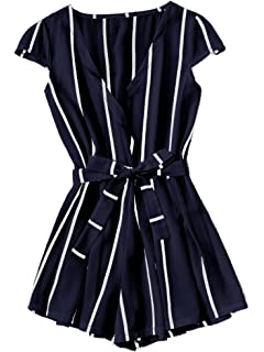 b6d16c7b4ff Amazon.com  Hemlock Women Zipper Vest Tops Jumpsuit Romper Shorts ...