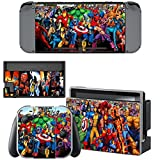 marvel skin decal - Vanknight Vinyl Skin Decal Sticker Wrap for Nintendo Switch Console Joy-Con Dock Skin