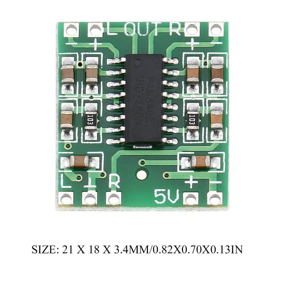Swiftswan 2 Canali 3W Alimentazione digitale Scheda audio PAM8403 Classe D Amplificatore USB DC 5V Mini scheda digitale amplificatore classe D