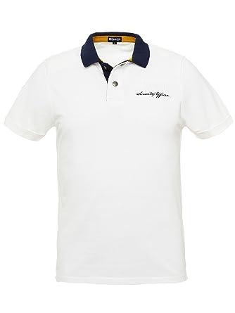 Blauer - Polo - para hombre Bianco Small: Amazon.es: Ropa y accesorios