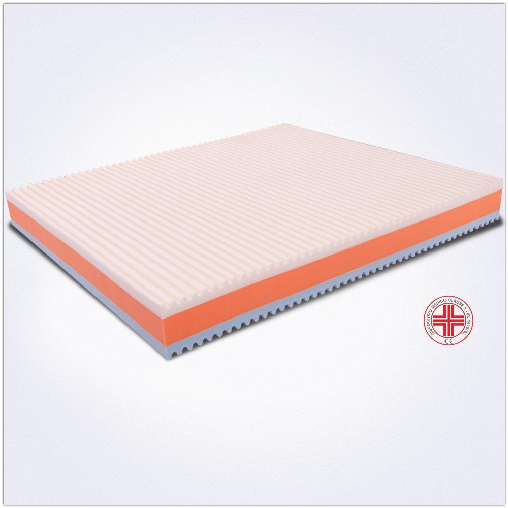 Colchón de matrimonio Memory 170 x 200 alto 22 cm extraíble ortopédico con dispositivo médico, colchón 3 capas Memory 4 cm Markus (Water Espuma 4 cm y placa ...