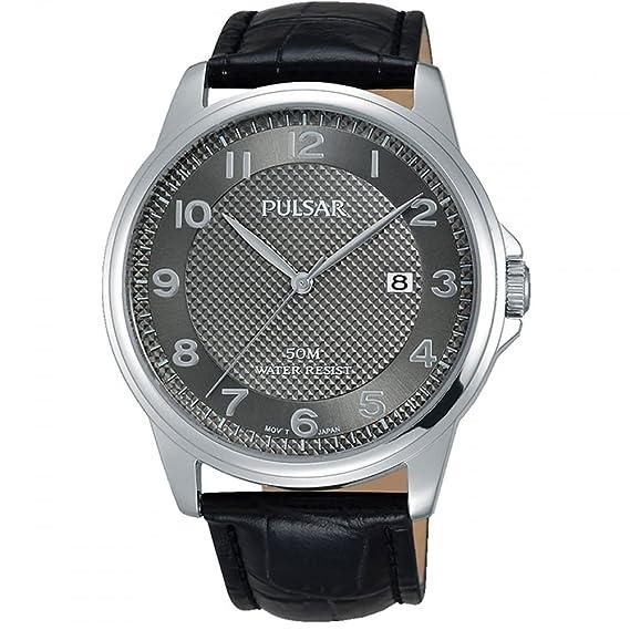Pulsar Reloj Analógico para Hombre de Cuarzo con Correa en Cuero PS9447X1: Amazon.es: Relojes