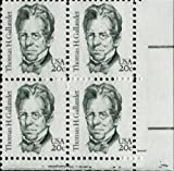 THOMAS H GALLAUDET ~ AMERICAN SCHOOL FOR THE DEAF #1861 Plate Block of 4 x 20¢ US Postage Stamps