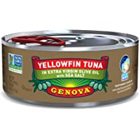 Genova Yellowfin Tuna in Extra Virgin Olive Oil with Sea Salt, 5 Ounce Can (Pack of 24)