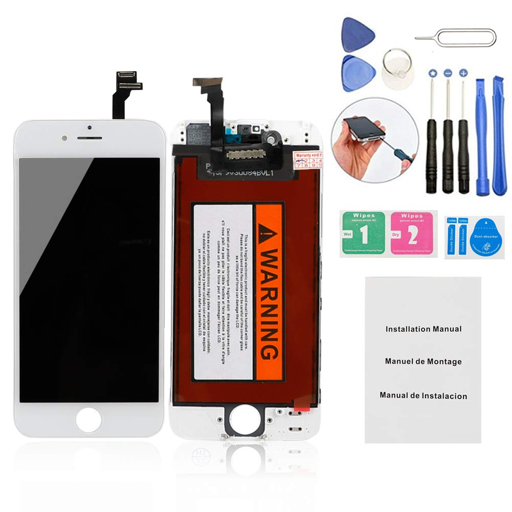 ORIWHIZ Replacement Screen Compatible for iPhone 6 Screen Replacement LCD Display Assembly Includes Free Tools Kit+Guide Manual ...