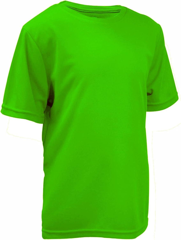 Crew Neck Short Sleeve Quick Dry No Fade boys/' shirt L2B Youth Active t-shirt