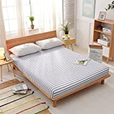 Fabric Sides Bed Cover,Bed Sheet Single Bed Cover Dust Cover Non-slip Mattress Cover Process.5m 1.8m 2 Meter Bed Cover Eco-A 180x220cm(71x87inch)