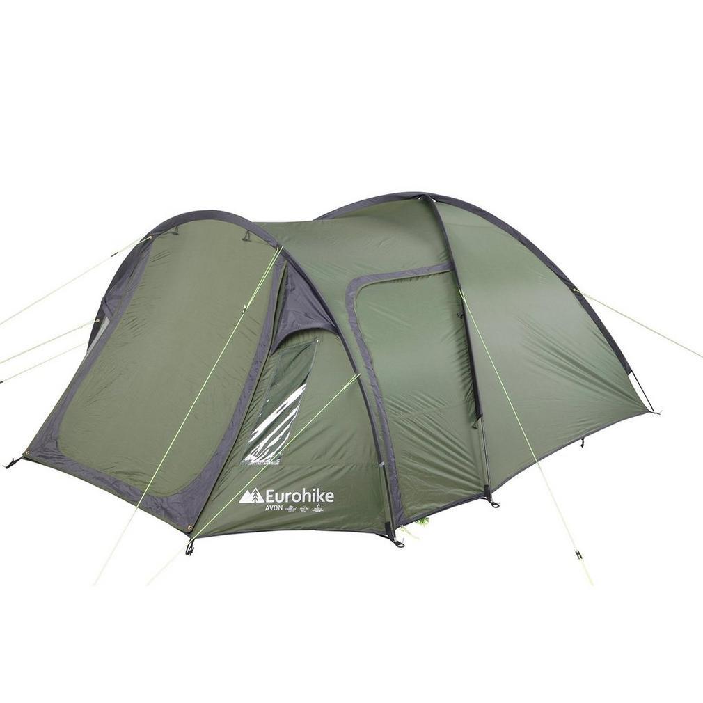 Tienda Eurohike Avon Deluxe 3 Man. Camping exterior abrigo verde, Verde, Talla Única Talla Única
