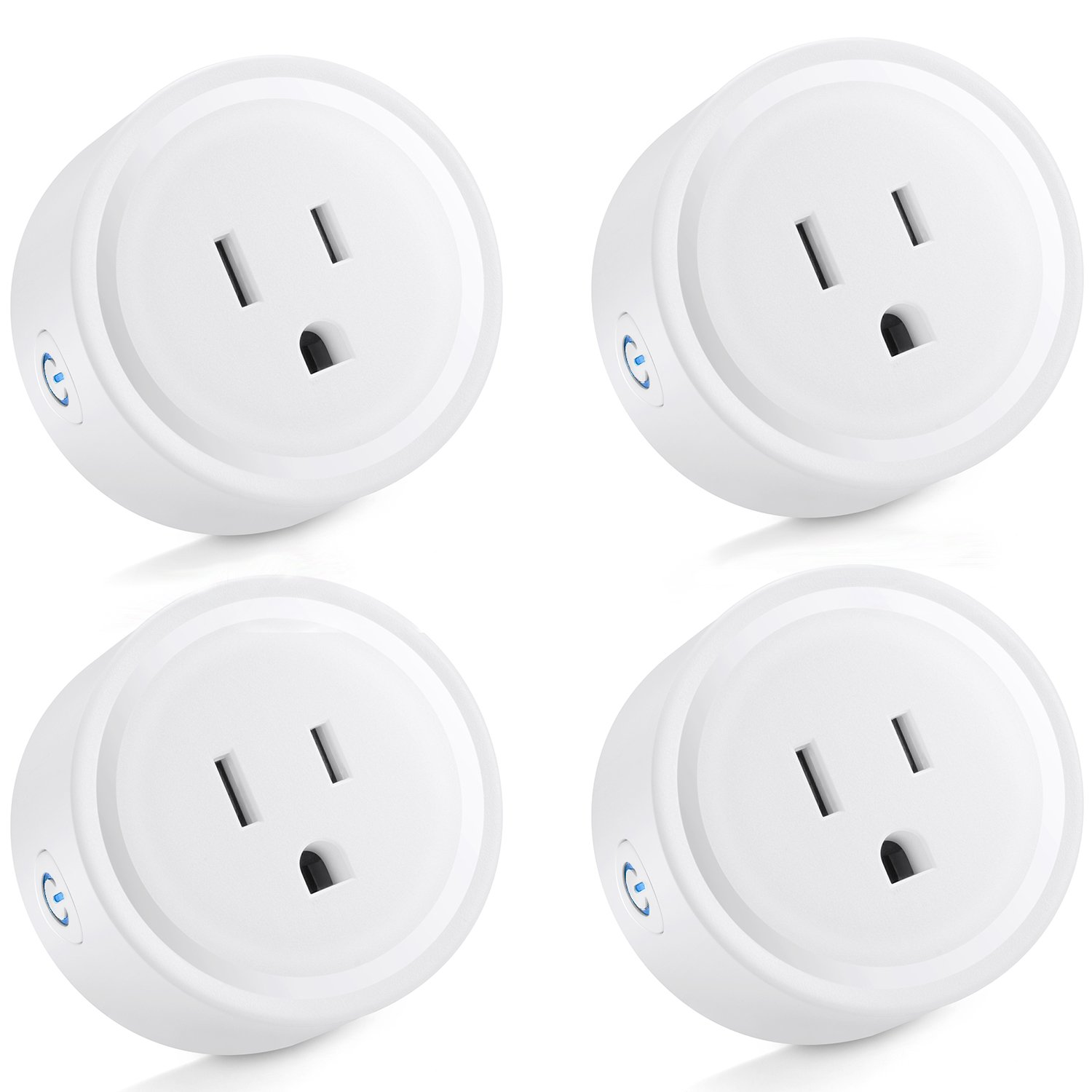 [4 Pack] BESTTEN Mini Wi-Fi Smart Remote Control Outlet, Works with Amazon Alexa Echo and Google Home, Easy & Quick Set Up, White, No Hub Required, 10A/1250 W, FCC Certified, White