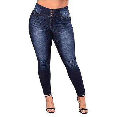 Wetry Jeans Mujer Botones Pantalones Talle Alto Vaqueros ...