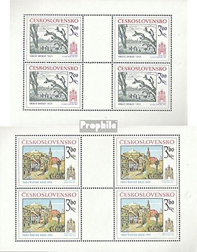 - Czechoslovakia 2440Klb-2441Klb Sheetlet (Complete.Issue.) 1978 Pressburg (Stamps for Collectors) Painting