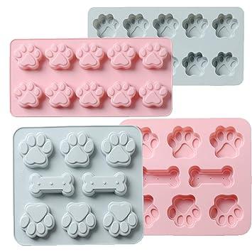 Molde de silicona flexible para caramelos de Warmwind, bandejas de cubitos de hielo, hueso