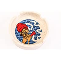 Ek Do Dhai Boom Shankar Ceramic Ashtray (14 cm x 13 cm x 6 cm)