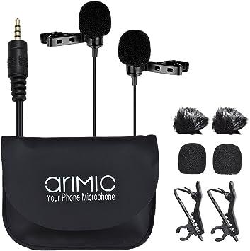 Andoer arimic dual-headed clip-on micrófono condensador ...