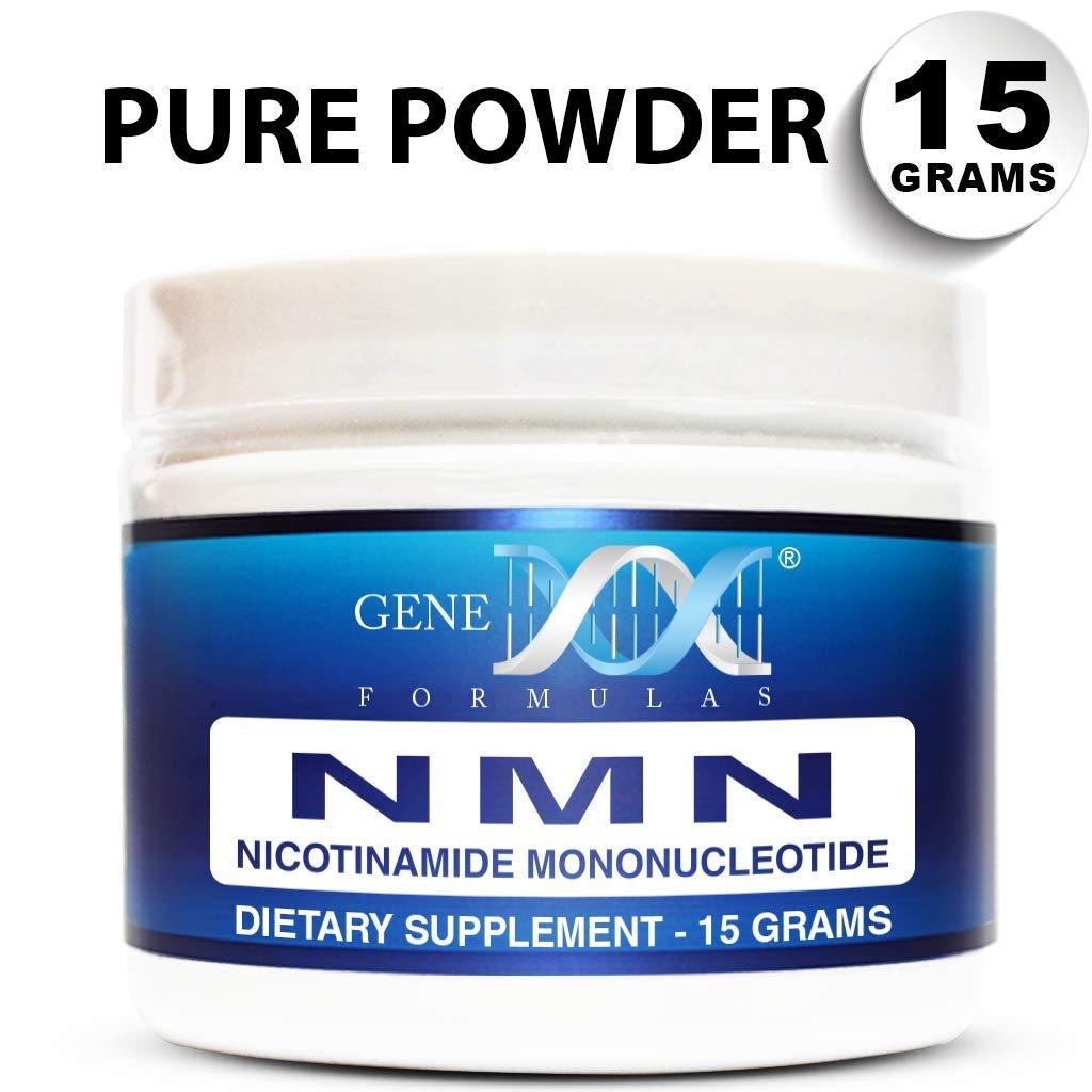 Genex NMN Nicotinamide Mononucleotide (15 Grams) - Certified 99.8% Pure Powder by Genex Formulas