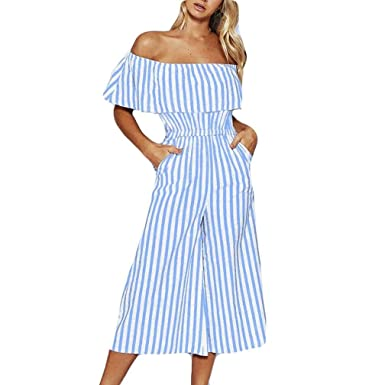39f1ed4e11c VEMOW Women Jumpsuits Playsuit Ladies Rompers All in One Overalls Loose Cami  Harem Casual Oversized Baggy Dungarees Lagenlook Trousers