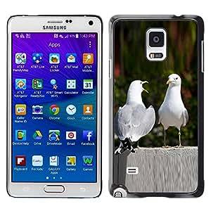 PC/Aluminum Funda Carcasa protectora para Samsung Galaxy Note 4 SM-N910F SM-N910K SM-N910C SM-N910W8 SM-N910U SM-N910 Funny Nature Birds Love / JUSTGO PHONE PROTECTOR