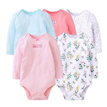 Bebé Unisex Body - Bebé Mameluco Pijamas Peleles Algodón Monos Niños Niñas Mangas Largas Trajes,