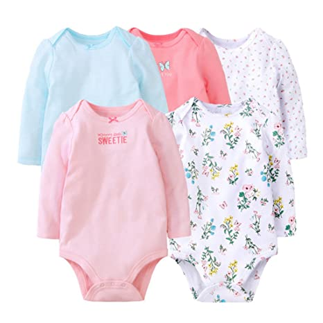 ea73d6981 Bebé Unisex Body - Bebé Mameluco Pijamas Peleles Algodón Monos Niños Niñas Mangas  Largas Trajes