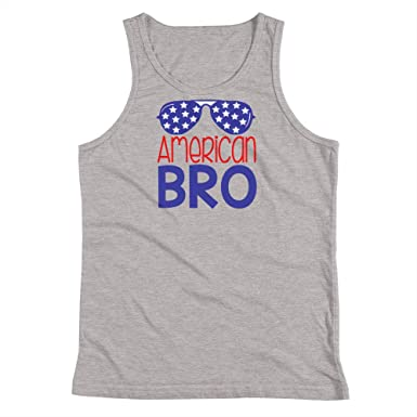 9e89028ac2ddf2 American Bro 4th of July Youth Tank Top Athletic Heather at Amazon ...