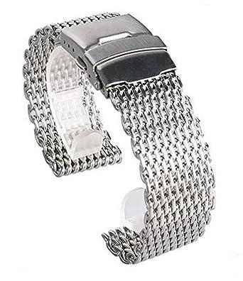 best service 98475 f661e Amazon | [TradeWind] 腕時計 シャーク メッシュ バンド ベルト ...