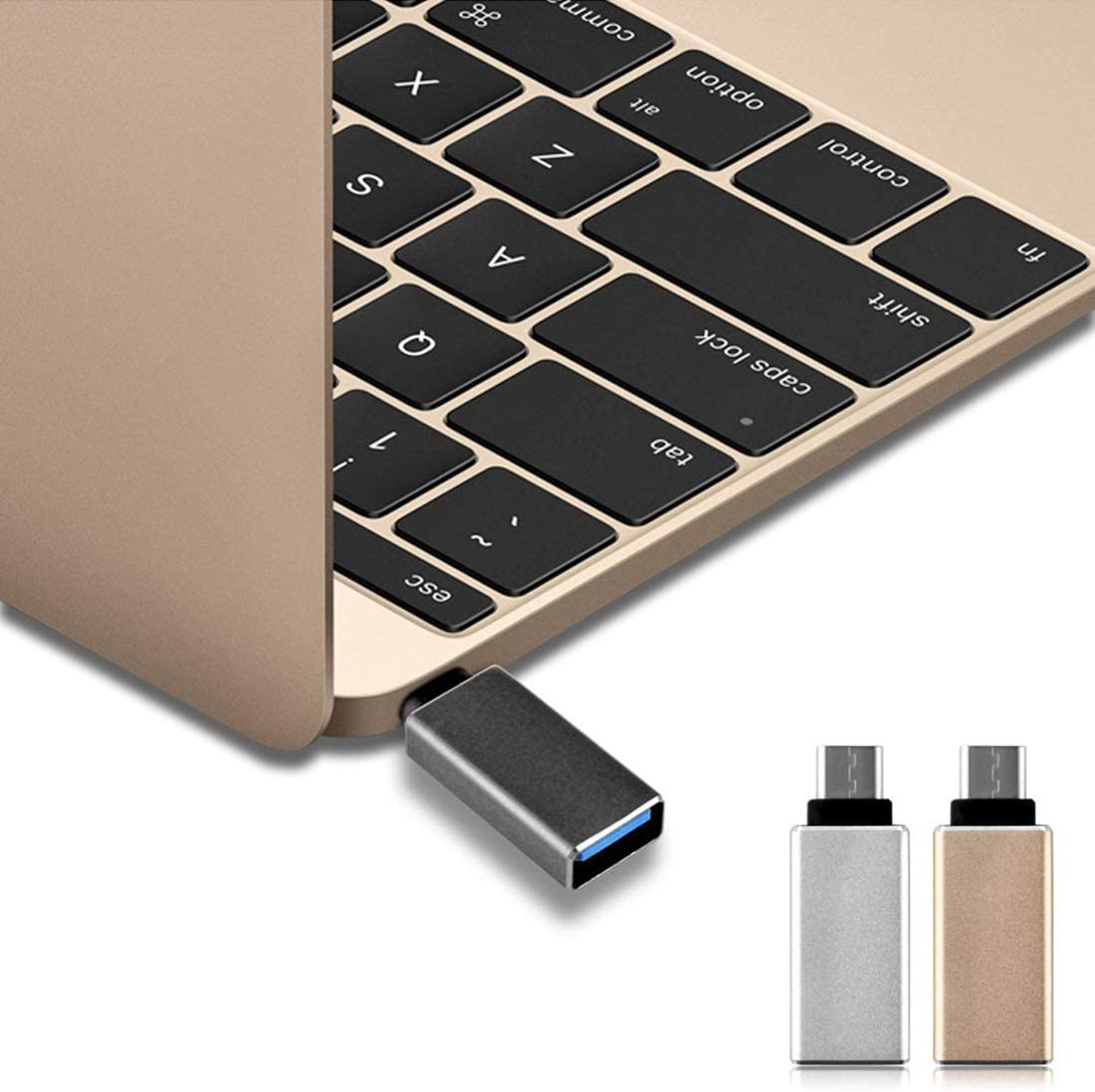 Chromebook Pixel 2015 Black Color : Black for MacBook 12 inch Yangjie Cell Phone USB Cable USB Type C USB 3.0 to USB-C//Type-C 3.1 Converter Adapter
