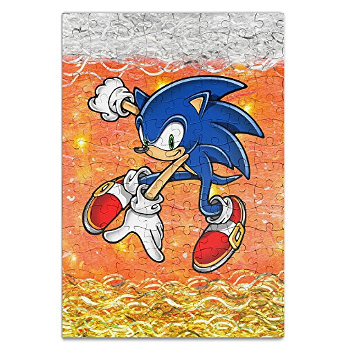[KIDDOS Personalized Picture Print Sonic The Hedgehog 120 Piece Jigsaw Puzzle] (Sister Suffragette Costume)