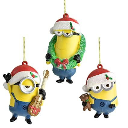 cce235150852b Image Unavailable. Image not available for. Color  Kurt Adler Despicable Me  Santa Hat Minions ...