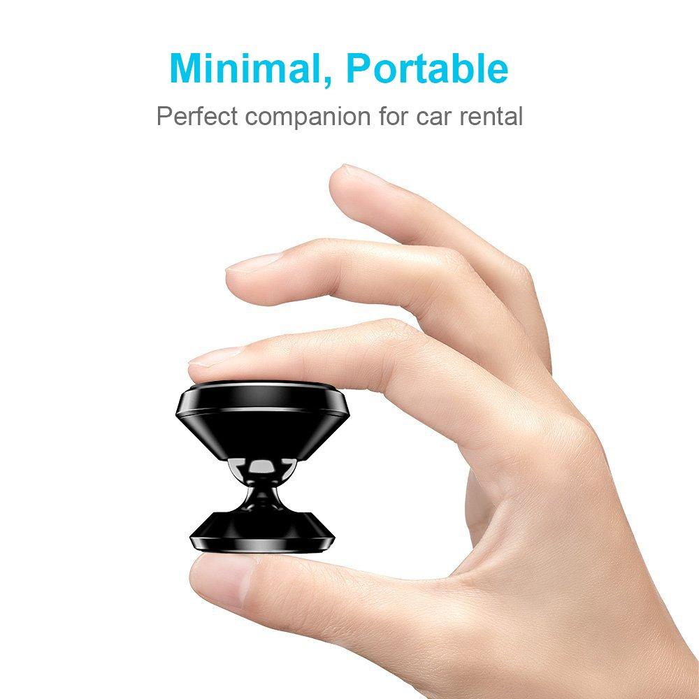 Handyhalter f/ürs Auto iVoler KFZ Magnet Handyhalter 360 Grad Einstellbare Smartphone Halterung Auto kompatibel f/ür iPhone Handyhalterung Auto Magnet 2 St/ücke Huawei usw.- Schwarz Samsung S9 S8