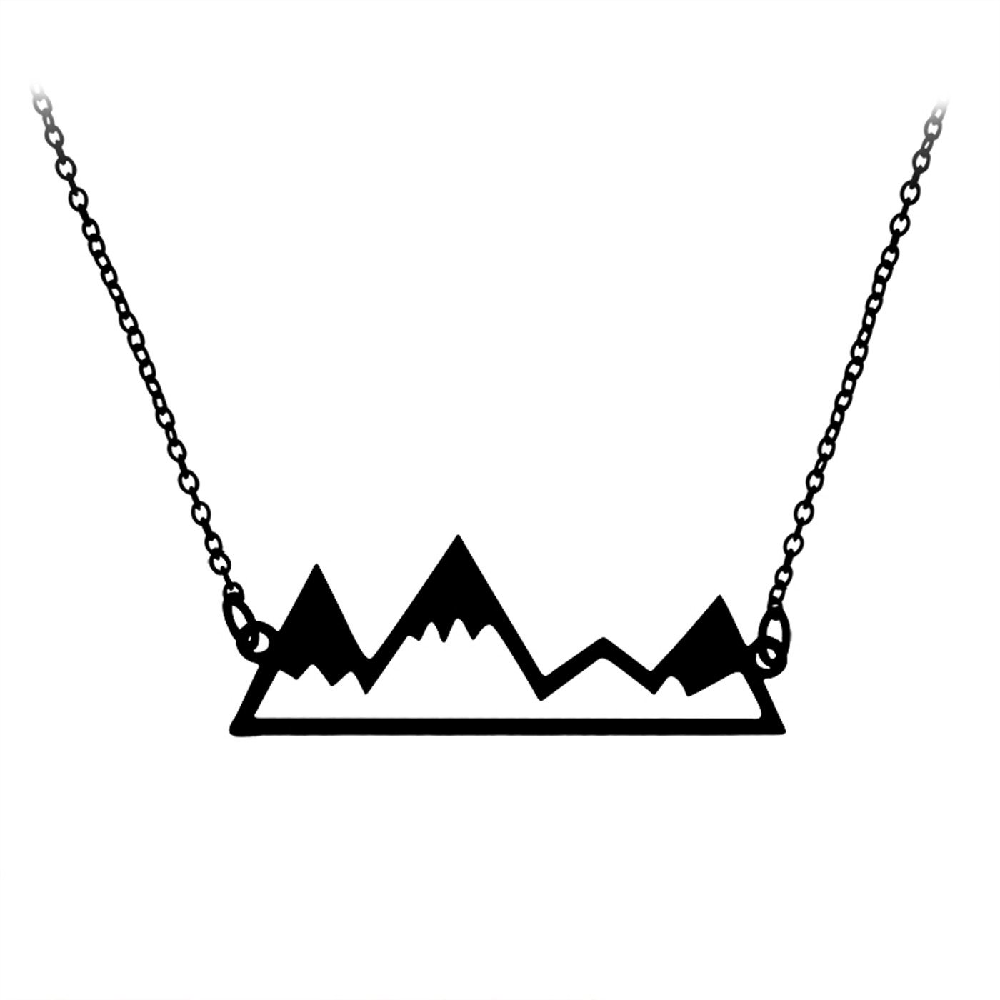 FuNi Gold/Silver Minimalist Mountain Top Pendant Snowy Mountain Necklace Hiking Outdoor Travel Jewelry Mountains Climbin