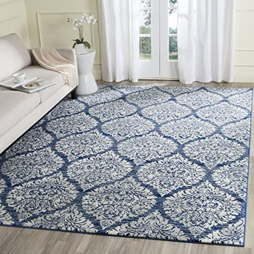Safavieh Evoke Collection EVK268S Damask Ogee Grey and Silver Area Rug 4 x 6