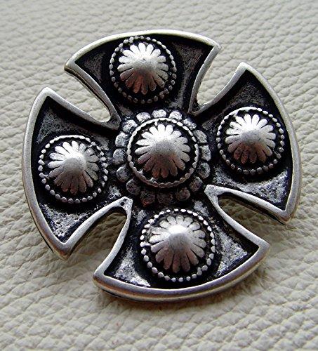 Kilt Tasche Sporran Kreuz der Kelten groß Farbe dunkel braun