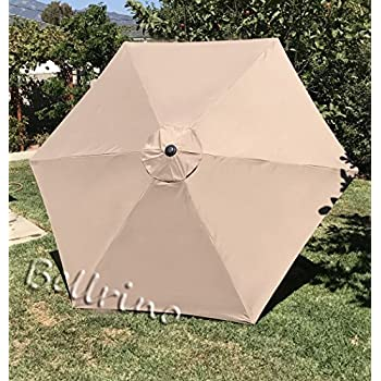 BELLRINO DECOR Replacement MEDIUM COFFEE / TAUPE   STRONG u0026 THICK   Umbrella Canopy for 9ft & Amazon.com : 9ft Umbrella Replacement Canopy 6 Ribs in Taupe ...